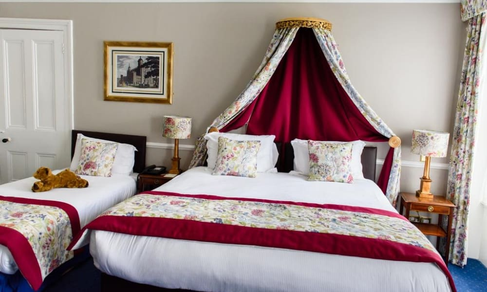 Old Hall Hotel bed